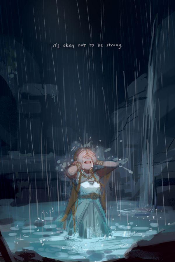 It's okay not to be strong. breath of the Wild Princess Zelda by Finni Chang #nintendo #legendofzelda #fanart