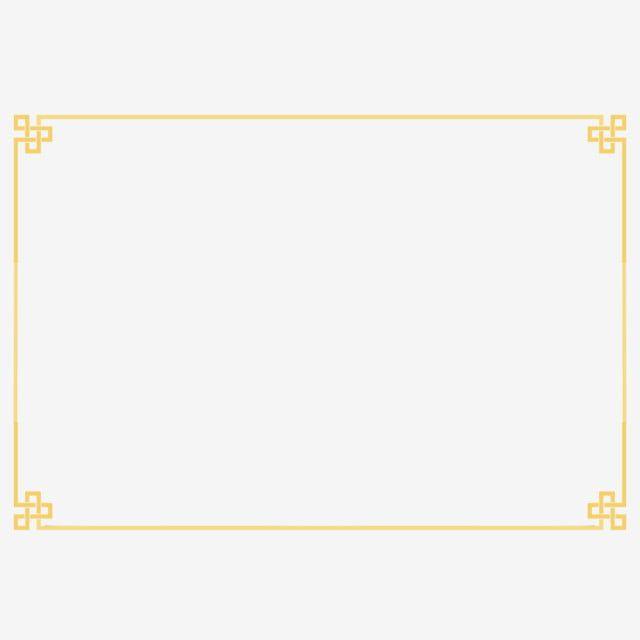 Gold Auspicious Border Border Clipart Gold Border Golden Border Png Transparent Clipart Image And Psd File For Free Download Gold Clipart Clip Art Borders Frame Border Design