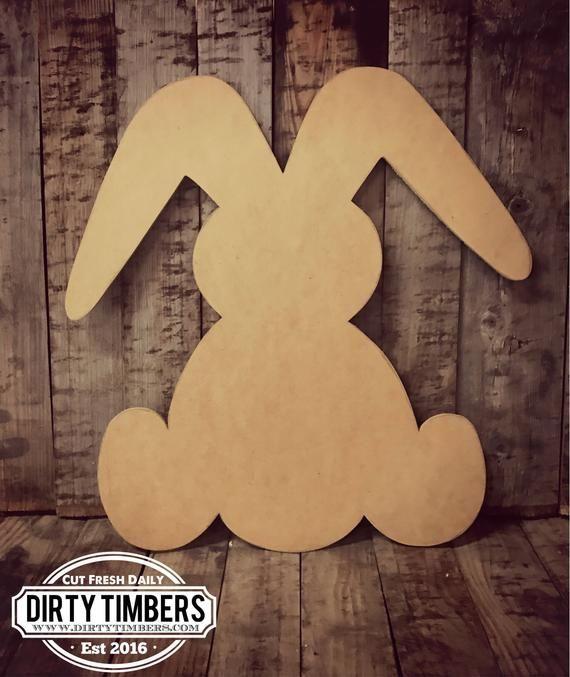 Unfinished Bunny Rabbit Door Hanger Easter Spring Baby Diy
