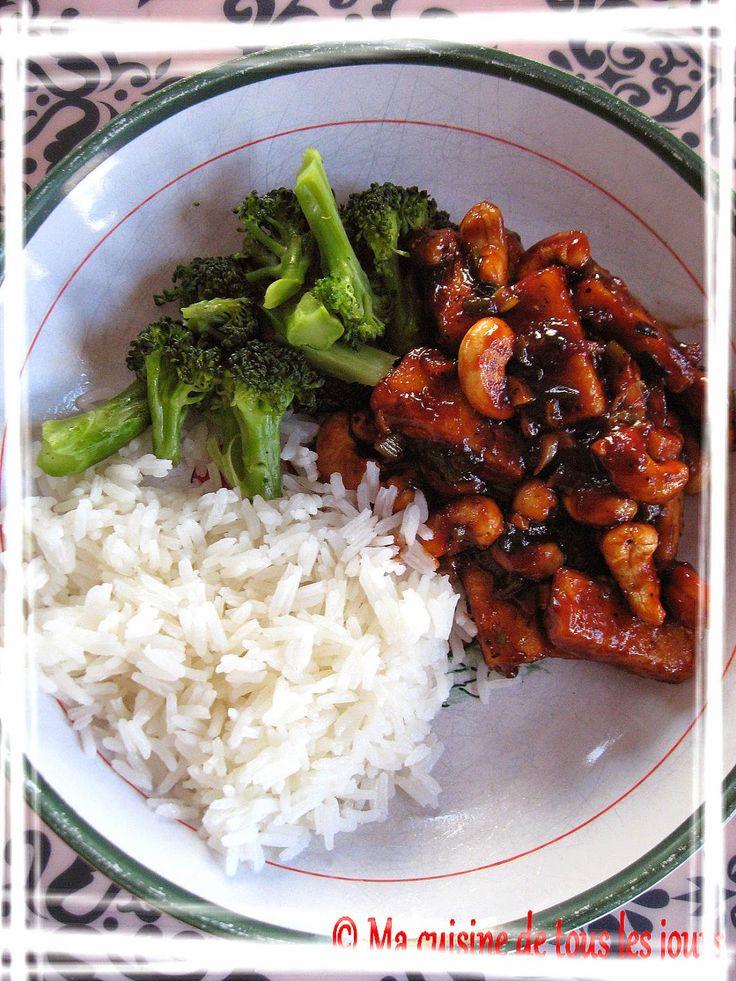 Ma cuisine de tous les jours: Sauté de tofu aux noix de cajou