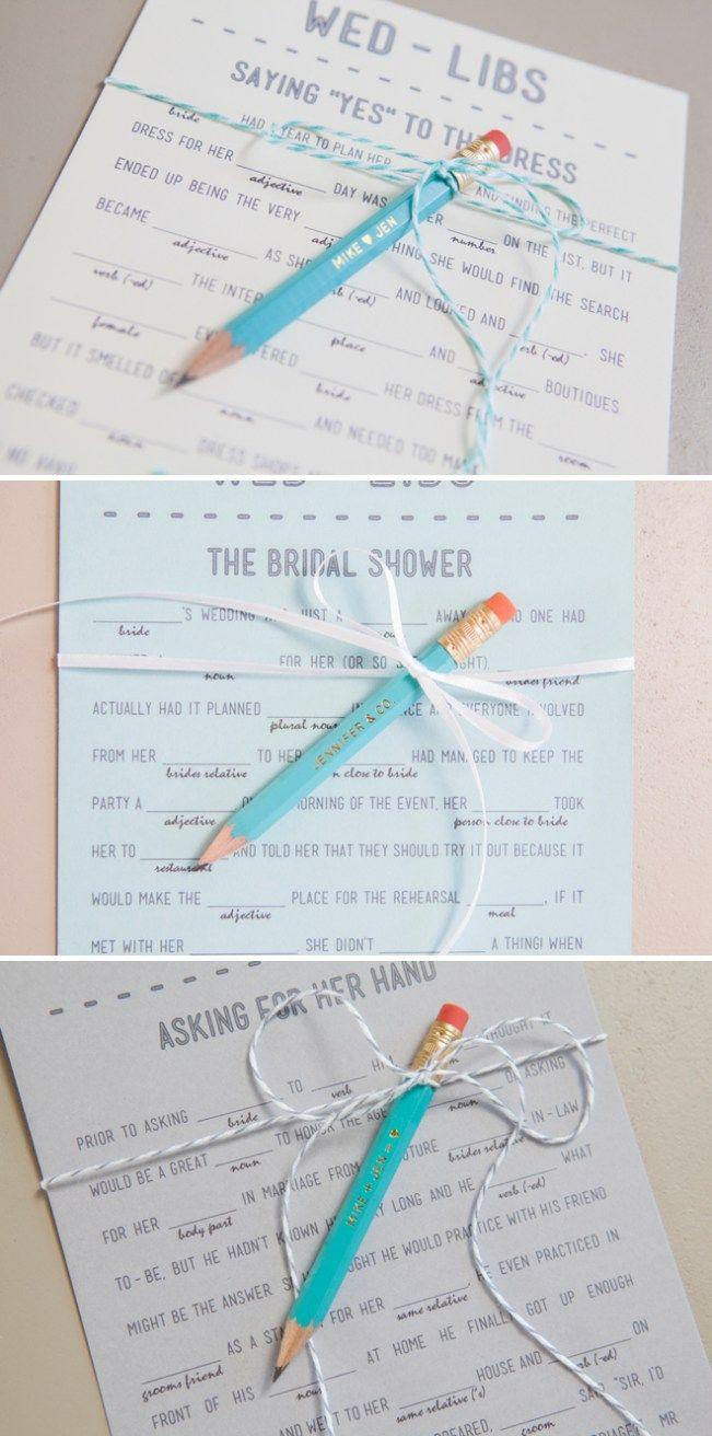 3 Free Printable Wedding Madlibs
