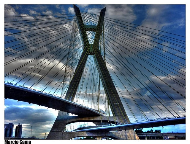 Oliveira Bridge (Brazil): World's First X-shaped Cable Stayed Bridge with two crossed lanes