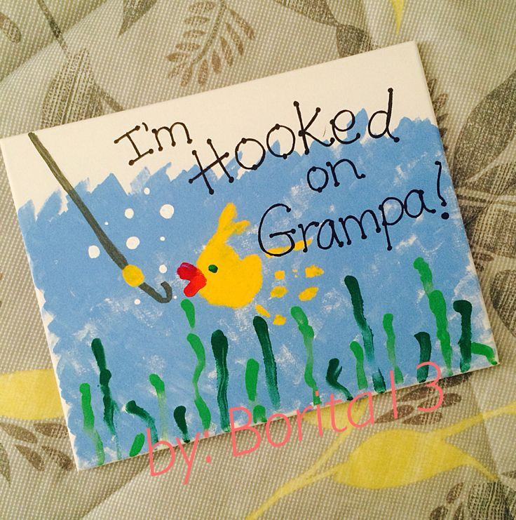 Fathers Day Gift for Grandpa using Toddler Prints!