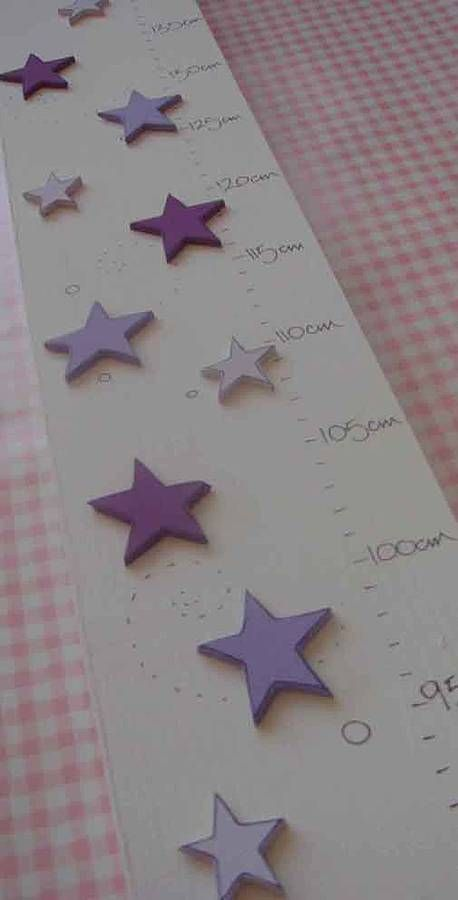 purple stars wooden height chart by hickory dickory | notonthehighstreet.com