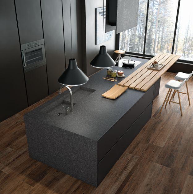 4 id es de mati res pour habiller son lot central dans sa cuisine cuisine pinterest ilot. Black Bedroom Furniture Sets. Home Design Ideas