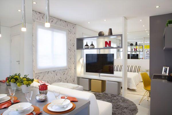 Studio Quarto Sala Office E Cozinha Integrados