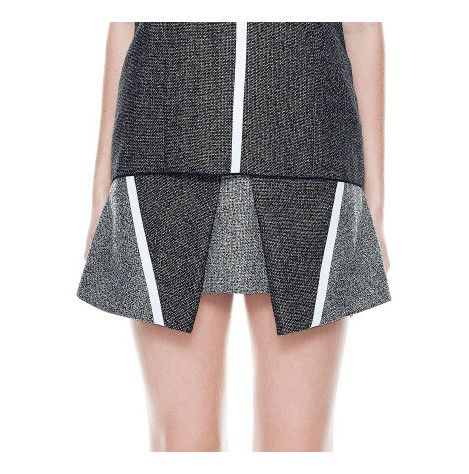 Dion Lee - Square Mini Skirt from David Jones.  The Square Mini Skirt from Dion Lee is cut with a structured mini hemline and features contrast tweed-style panelling and graphic stripe detailing to the front for a subtle sports-luxe feel.
