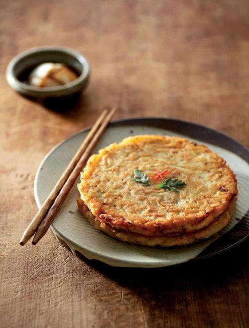 Korean mung bean pancakes (Bindaetteok 빈대떡)