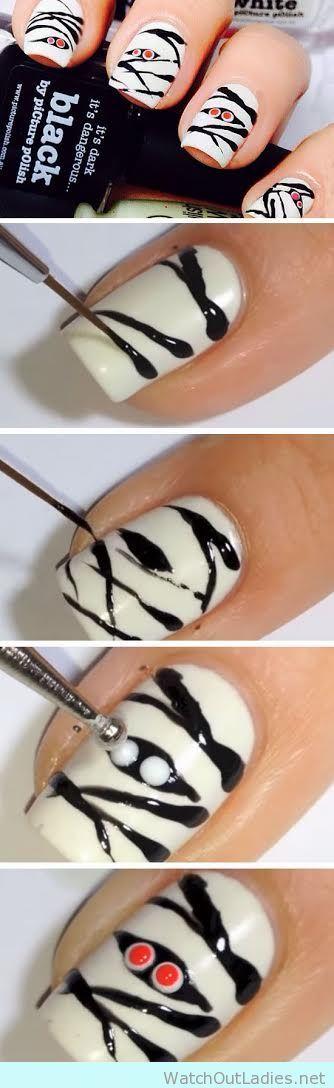 Spooky Halloween manicure tutorial
