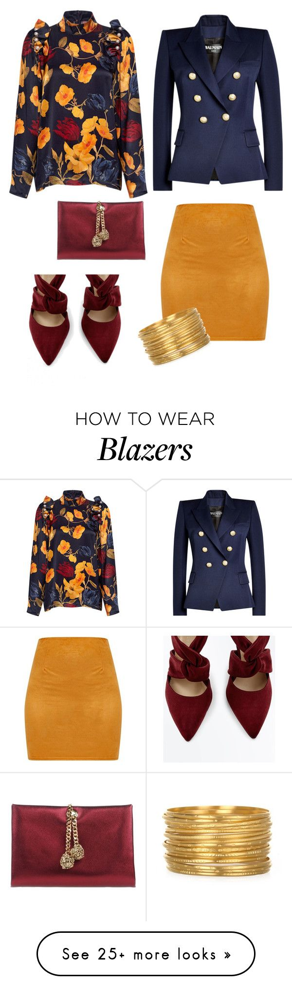 """""""Untitled #2347"""" by anitababe46 on Polyvore featuring Mother of Pearl, Balmain and Roberto Cavalli"""