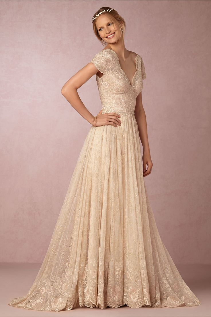 romantic vintage-inspired wedding dress | Kensington Gown by Watters for BHLDN