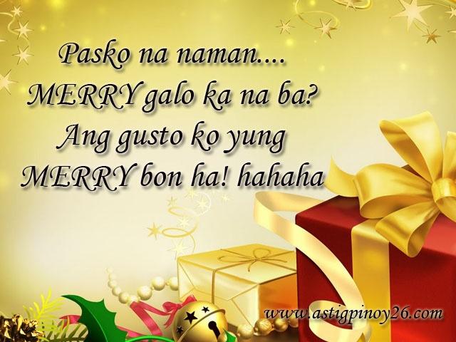 Christmas Tagalog Taglish Jokes Quotes Pinterest Jokes