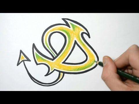 Graffiti art letters d
