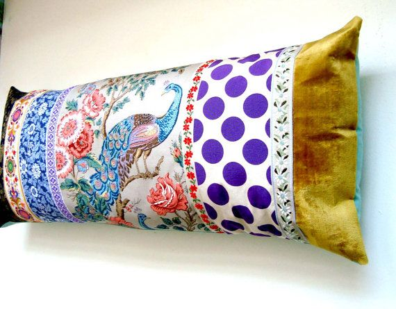 Long Patchwork Pillow Cushion Cover Extra Long Bolster