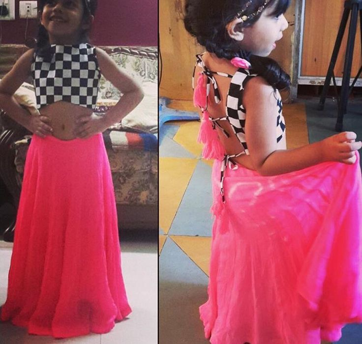 The cropped top love # Indian kids cropped top with skirt