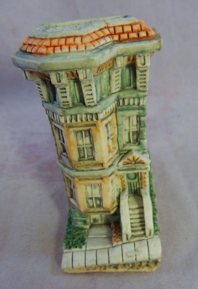 Vntg Rare Mini House Figurine Marked 87 Udc United Design Corp Ceramic 2 3