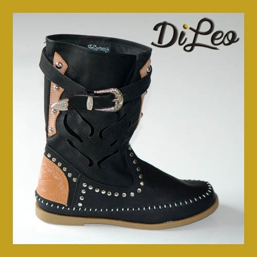 News! BLACK Colored Summer Studded Boots 198   www.dileocalzature.it