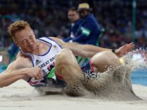 Great Britain's Greg Rutherford during the Men's long jump final on the eighth day of the Rio Olympics