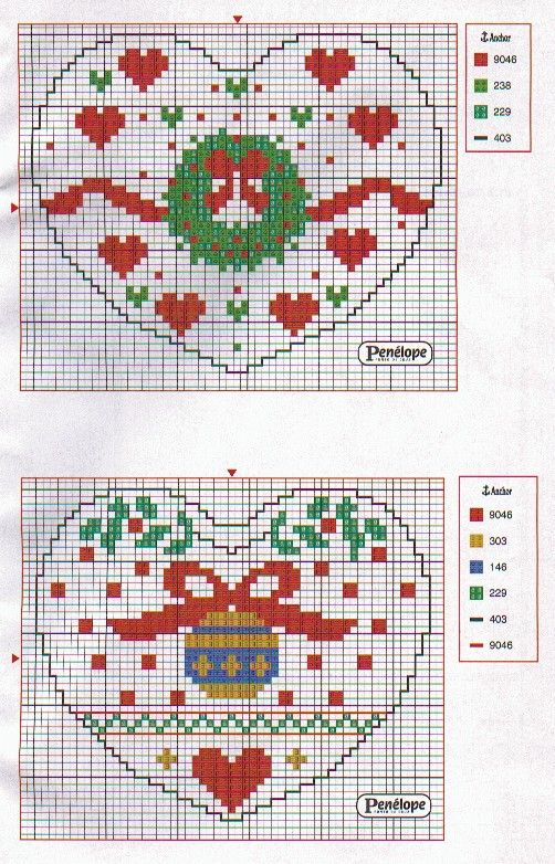 Points de croix *<3* Cross stitch Decorazione 11b