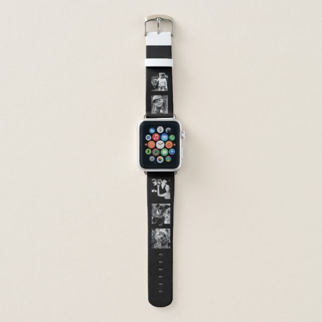 Design Your Own Modern 5Photo Collage Apple Watch Band