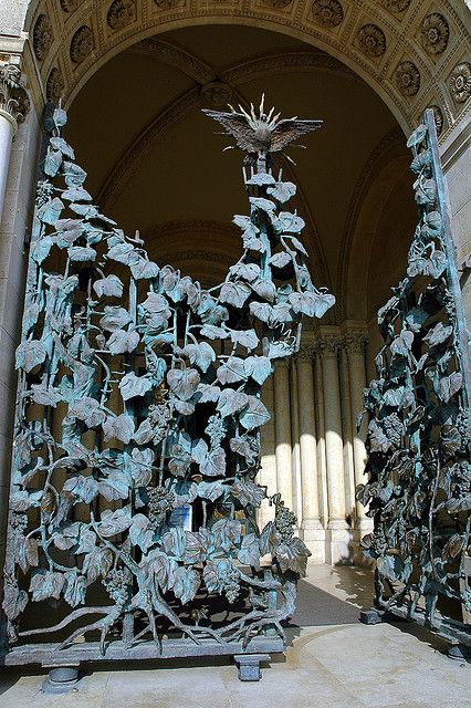 Amazing Gates of Cathedral by Friedrich von Schmidt in Székesegyház (Pécs)-Hungary | JV