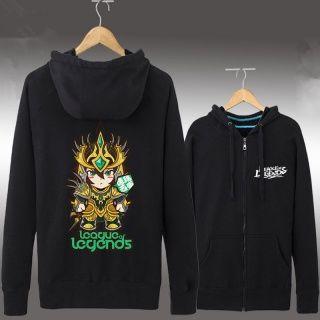 League of Legends raglan camisola para homens Jarvan Ⅳ impressão