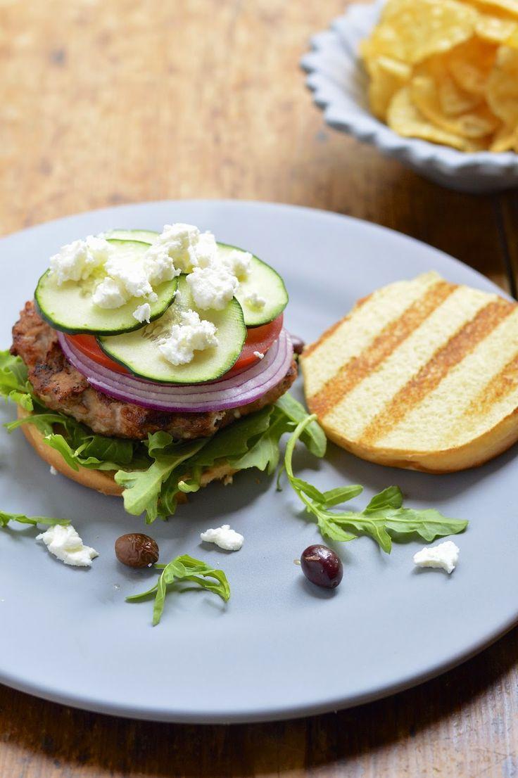 Grilled Greek Turkey Burgers Recipe