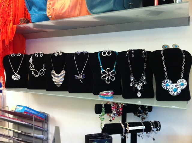 New selection of fun and inexpensive necklace and earring sets.  Tranquility Tillsonburg.