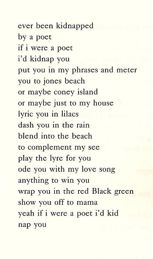 """Nikki Giovanni, """"Kidnap Poem"""" 