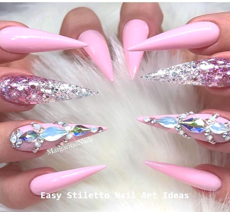 30 Great Stiletto Nail Art Design Ideas #nailart – Diy Stiletto Nails