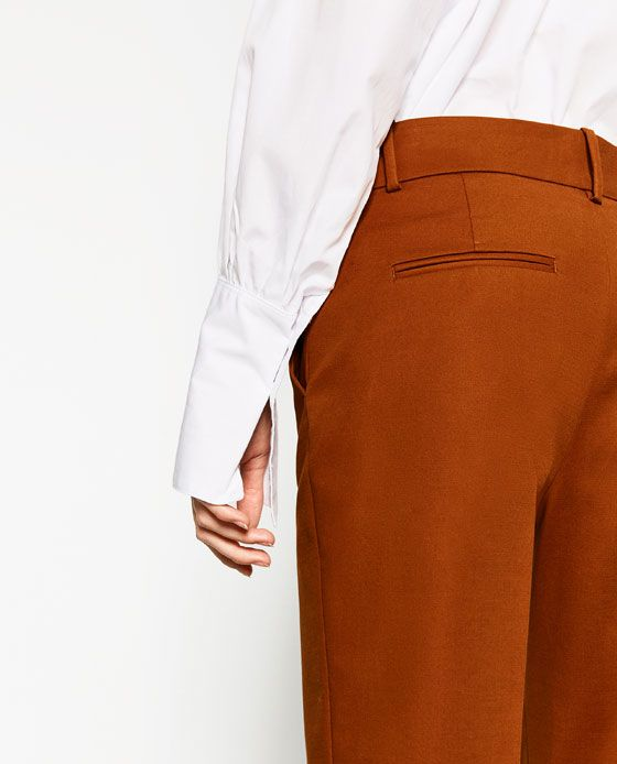 Image 6 of FRONT BUCKLE TROUSERS from Zara