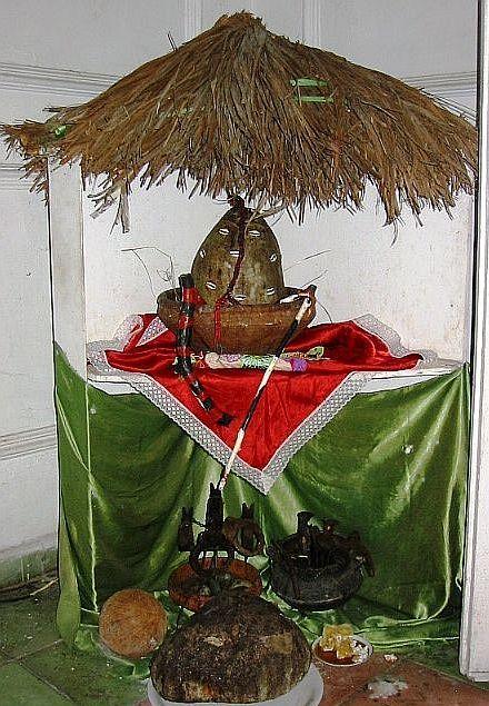 Altar to Eleggua, santeria, Santiago de Cuba
