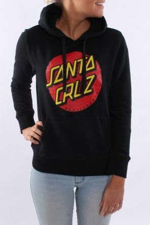 Santa Cruz - Big Dot Girls Pop Over Hood Black This jumper is so easy to wear we are loving the Santa Cruz Logo and in the black colour way! This one is a staff fav! $79.95 AUD SHOP: http://www.jeanjail.com.au/santa-cruz-big-dot-girls-pop-over-hood-black-1.html