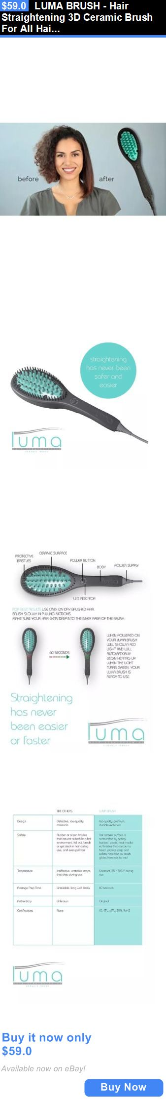 Hair Beauty: Luma Brush - Hair Straightening 3D Ceramic Brush For All Hair Type BUY IT NOW ONLY: $59.0