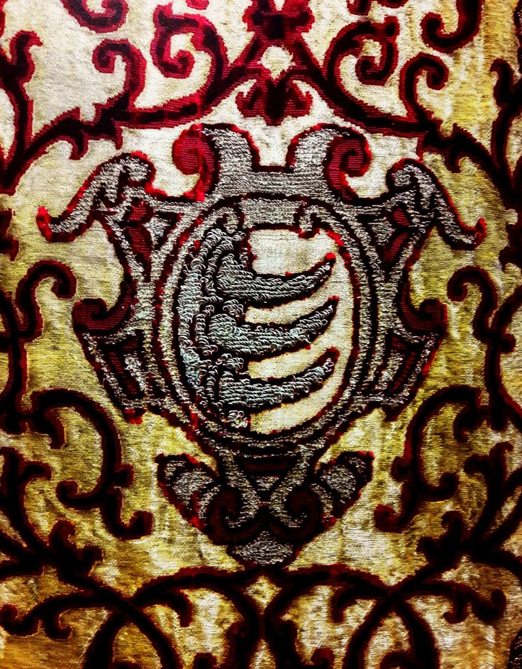 Detail of chasuble with coat of arms of Stephen Báthory by Anonymous from Italy, 1576-1586 (PD-art/old), Muzeum Katedralne na Wawelu