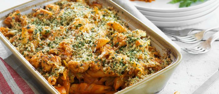 Chicken, Tomato and Parmesan Pasta Bake
