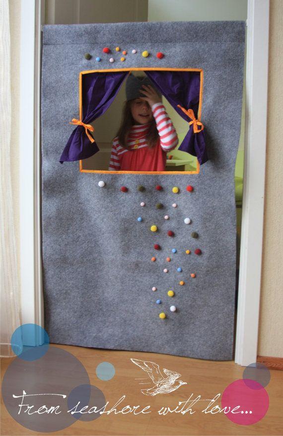 Style Waldorf laine feutre porte marionnettes par StripedCoast