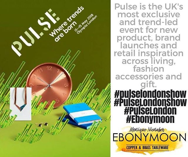 @pulselondonshow is the UK's most exclusive and trend-led event for new product brand launches and retail inspiration across living fashion accessories and gift.... ... AND WE ARE GOING!! We will be exhibiting there 13-15 May 2018 with our new range of tableware that is becoming very popular and now going international. Have a look at http://ift.tt/2mQt4KC  and see why we are so excited.  www.ebonymoon.co.za  #pulselondonshow #PulseLondonShow #PulseLondon #wheretrendsareborn  #Ebonymoon