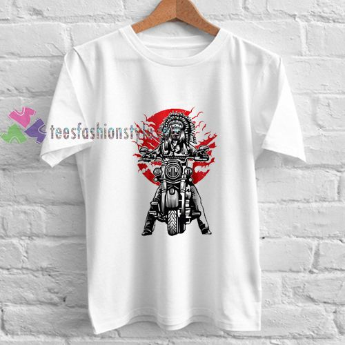 Indian Bikers t shirt gift tees unisex adult cool tee shirts