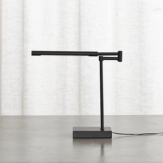 Sterling Black Desk Lamp | Crate and Barrel