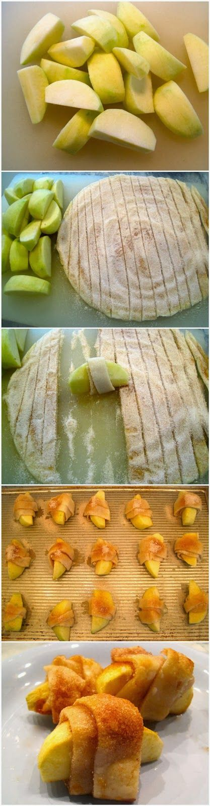 Bite Size Apple Pies || made on 12/31/2014 & 1/1/2015. These are the BEST. Added vanilla to the melted butter & nutmeg to the sugar cinnamon.