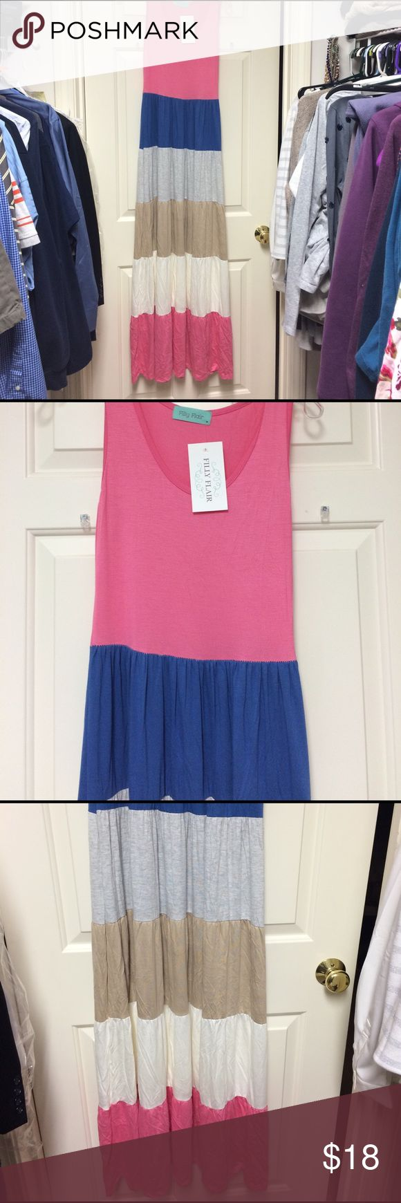 NWT! Filly Flair Twirl Maxi Dress size M NWT! Long Filly Flair maxi dress. Super soft and perfect for summer. Women's size M. 6-8. Filly Flair Dresses Maxi