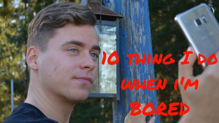 10 THINGS I DO WHEN I'M BORED TAG | 2016