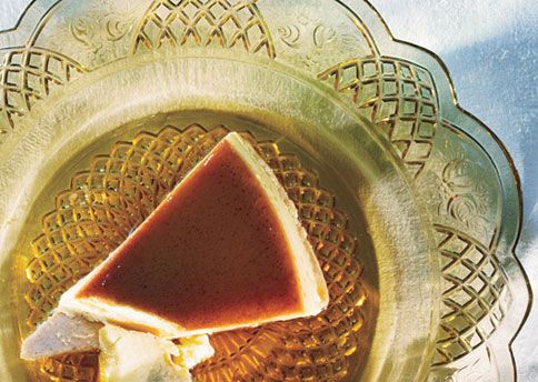 Eggnog Flan on Cinnamon Crust Recipe: Bon Appétit :: yes, it's a flan ...