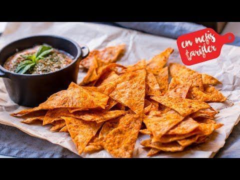 Yufkadan Cips Nasıl Yapılır? Ev Yapımı Doritos Cips (Salçalı Baharatlı Cips) - YouTube
