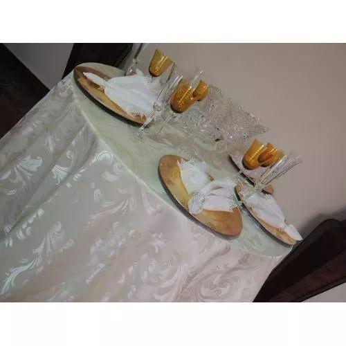 Kit 10 Toalhas Redondas Cetim Jacquard 2,60 Mt Diâmetro - R$ 599,00
