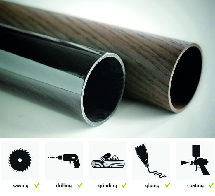 LignoTUBE Holzrohre: Einfache Bearbeitungmöglichkeiten aus dem Holzbereich.