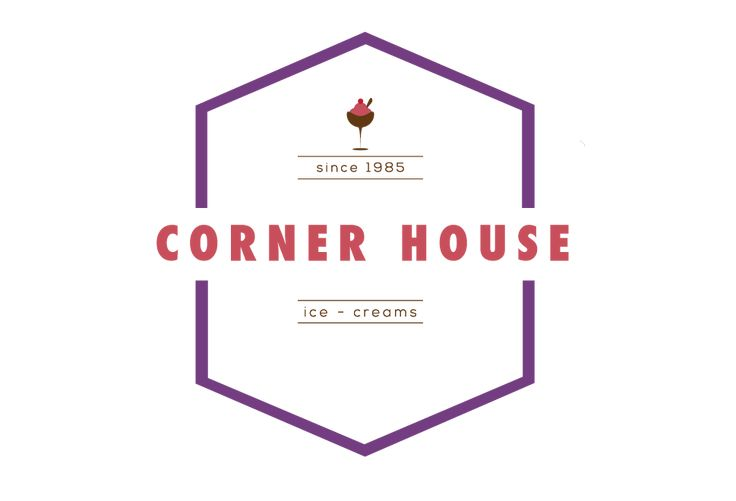 A mock Re-branding for the ice creamery Corner House.
