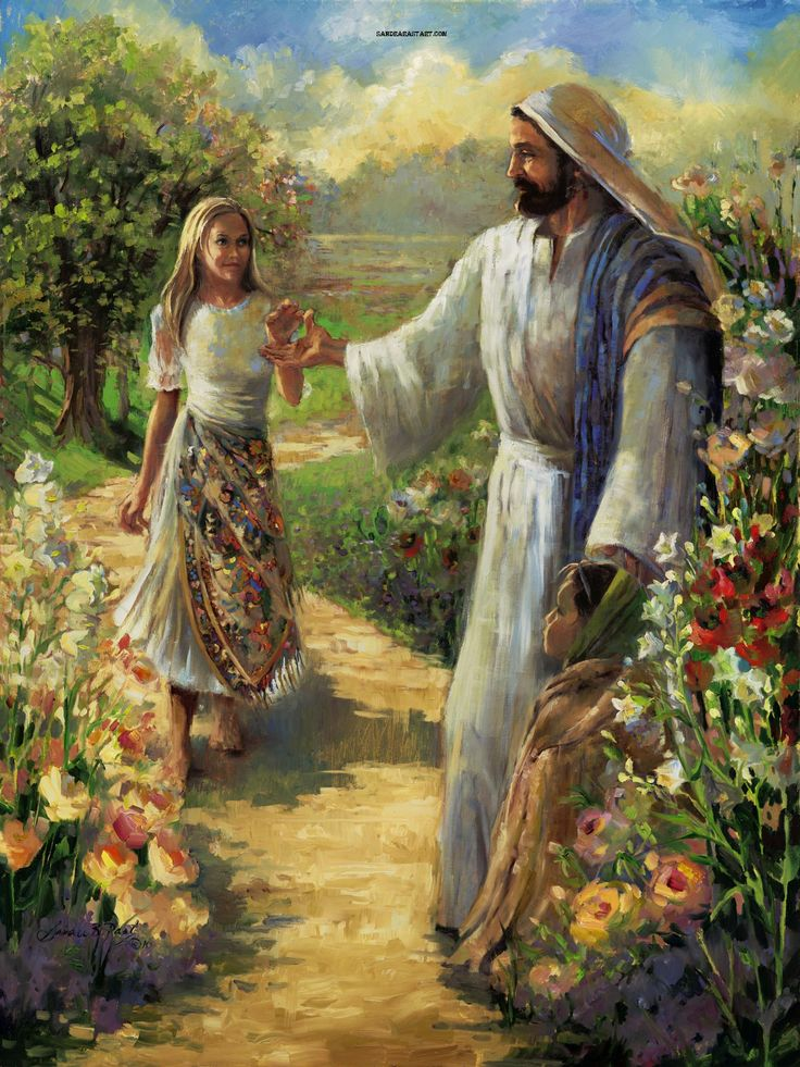 He Will Lead Thee By The Hand Biblical Portraits