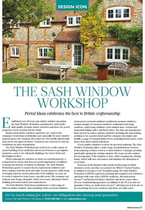The Sash Window Workshop Featured in Period Ideas Magazine